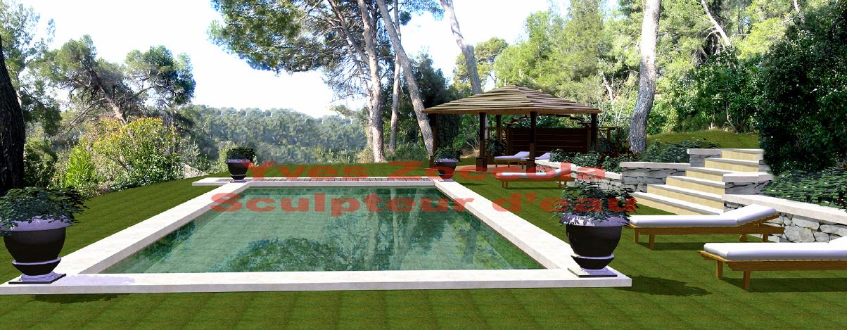 Piscine piscines classiques - Revetement piscine pierre naturelle ...