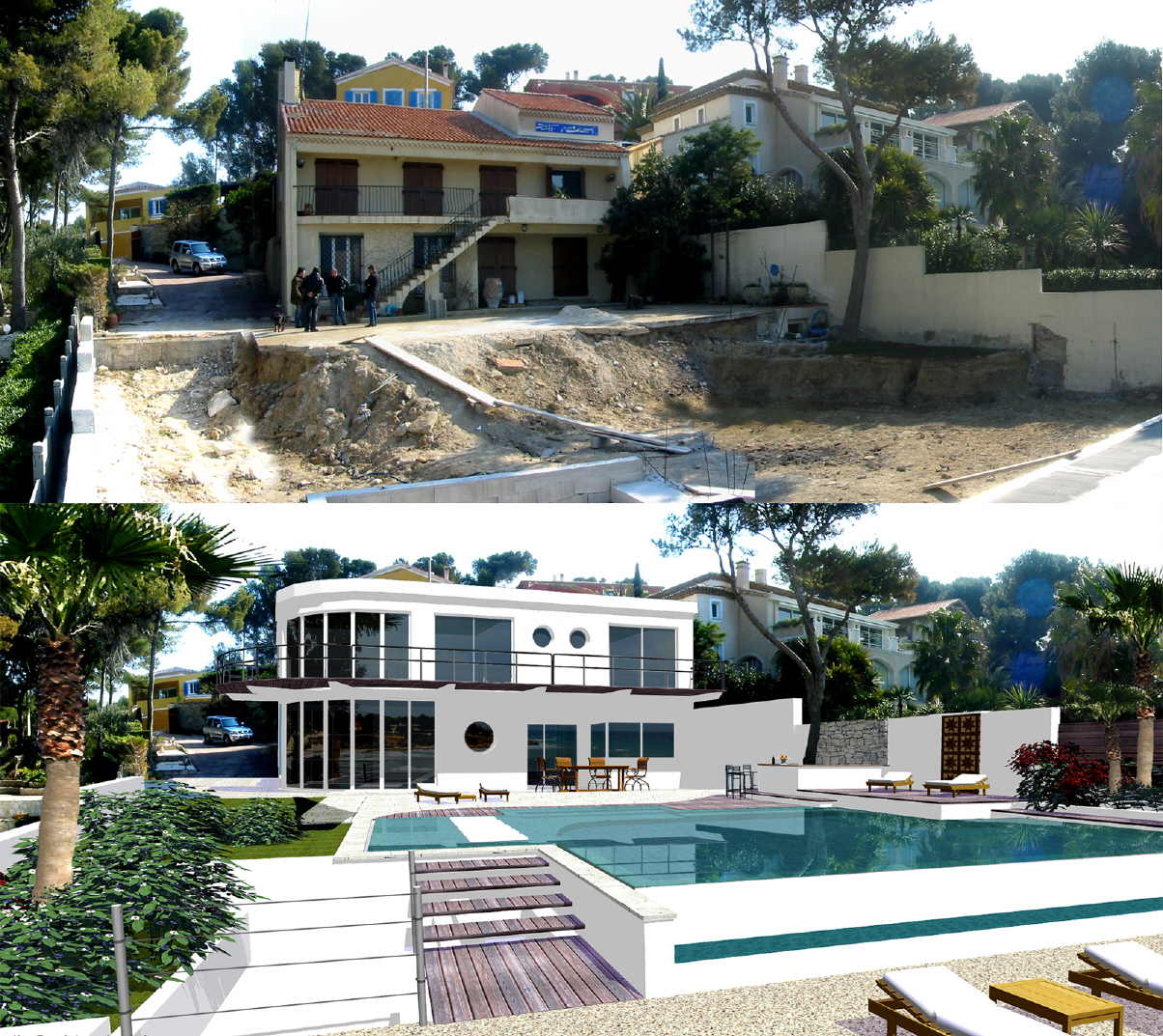 Relooking piscine architecte piscine d coration piscine for Relooking maison exterieur