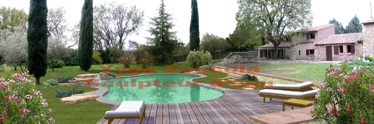 Piscine piscines naturelles for Fontaine piscine design